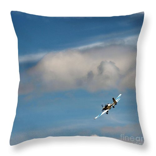 Airshow Throw Pillow featuring the photograph Up To The Sky by Angel Ciesniarska