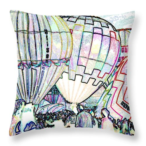 Balloons Throw Pillow featuring the photograph Up Up And Away by Tim Allen
