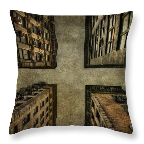 New York Throw Pillow featuring the photograph Uprising by Evelina Kremsdorf