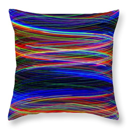Abstract Throw Pillow featuring the digital art Upwardly Mobile by Will Borden