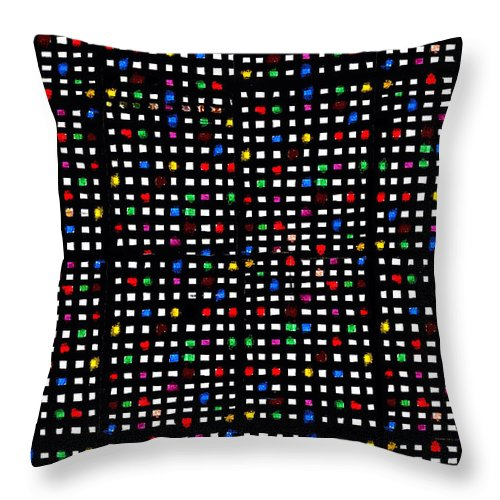 Grid Throw Pillow featuring the digital art Urb II by Andy Mercer