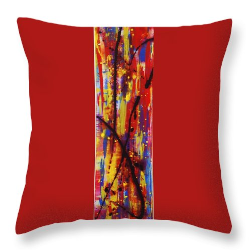 Abstract Throw Pillow featuring the painting Urban Carnival by Lauren Luna