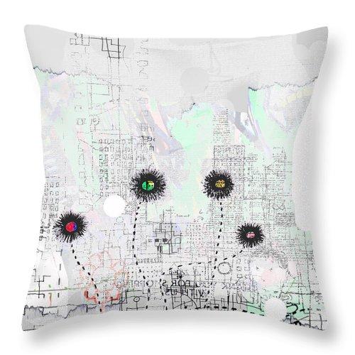 City Garden Throw Pillow featuring the digital art Urban Garden 2 by Andy Mercer