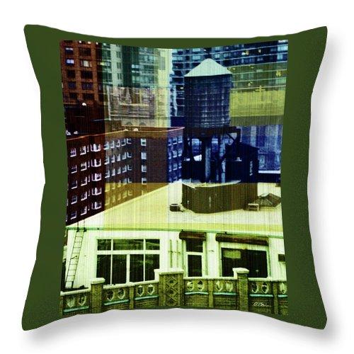 Aerial Throw Pillow featuring the digital art Urban Layers by Claudia O'Brien