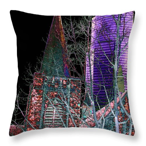 Seattle Throw Pillow featuring the photograph Urban Ministry by Tim Allen