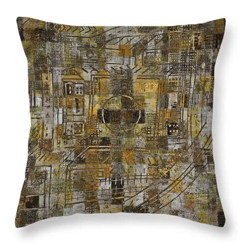 Urban Mystic Throw Pillow featuring the digital art Urban Mystic 4 by Andy Mercer