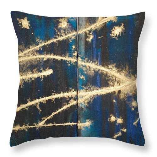 Night Throw Pillow featuring the painting Urban Nightscape by Lauren Luna