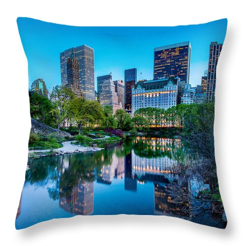 Central Park Throw Pillow featuring the photograph Urban Oasis by Az Jackson