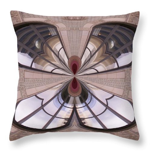 Seattle Throw Pillow featuring the photograph Urban Reflection by Tim Allen
