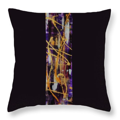 Abstract Throw Pillow featuring the painting Urban Royality by Lauren Luna
