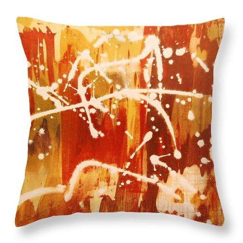 Graffeti Throw Pillow featuring the painting Urban Scrawl by Lauren Luna