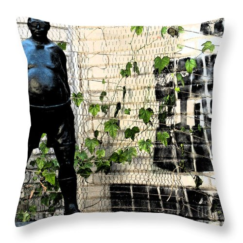 Modern Throw Pillow featuring the photograph Urban Vines 2 by Gary Everson