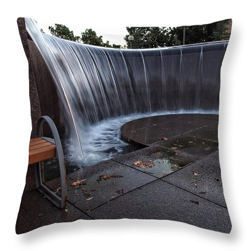 Urban Throw Pillow featuring the photograph Urban Waterfall by Buck Buchanan
