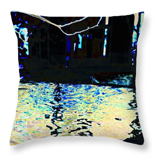 Seattle Throw Pillow featuring the photograph Urban Waterfall by Tim Allen