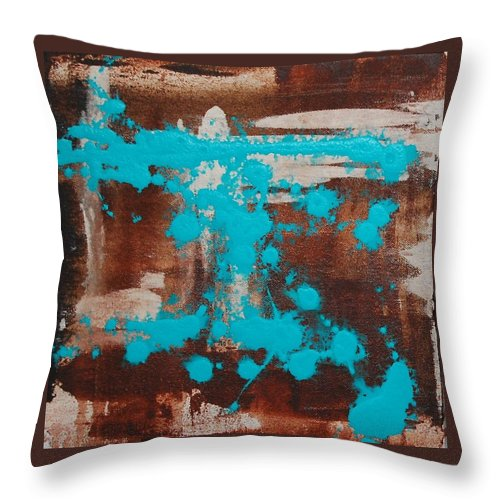 Diptech Throw Pillow featuring the painting Urbanesque I by Lauren Luna