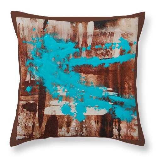 Urban Throw Pillow featuring the painting Urbanesque II by Lauren Luna