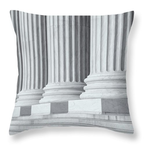 Clarence Holmes Throw Pillow featuring the photograph Us Supreme Court Building Iv by Clarence Holmes