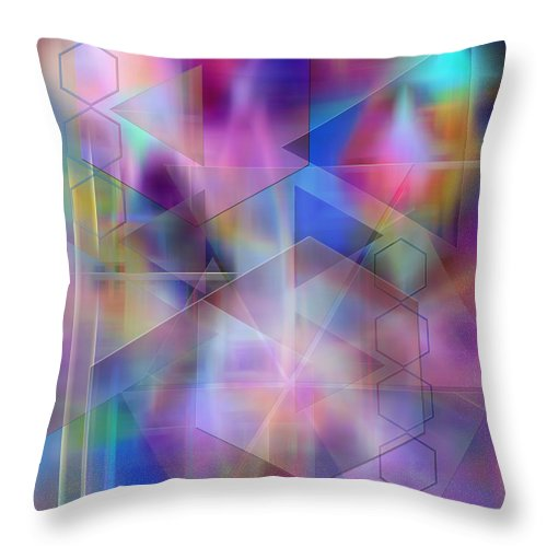 Usonian Dreams Throw Pillow featuring the digital art Usonian Dreams by John Beck