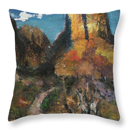 Utah Throw Pillow featuring the painting Utah Canyon by Craig Newland