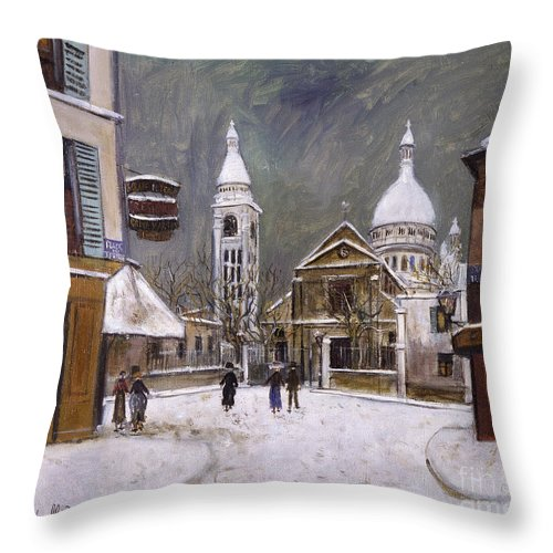 1931 Throw Pillow featuring the photograph Utrillo: Montmartre, 1931 by Granger