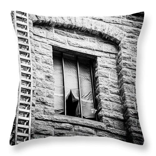Blumwurks Throw Pillow featuring the photograph Vacancy by Matthew Blum