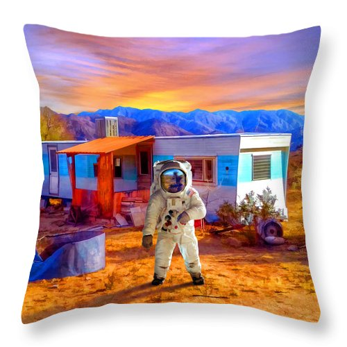 Vacation Rental Throw Pillow for Sale by Snake Jagger