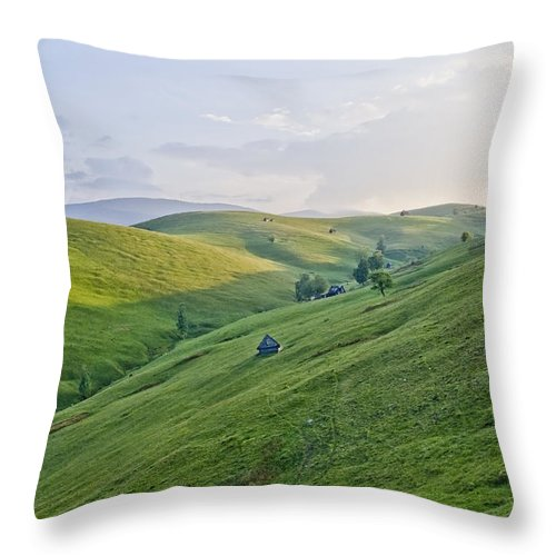 Landscape Throw Pillow featuring the photograph Valari 2 by Adrian Bud