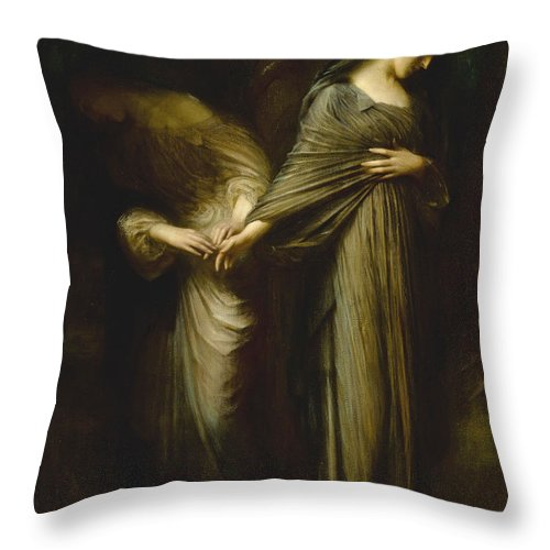 Arthur Hacker Throw Pillow featuring the painting Vale. Farewell by Arthur Hacker