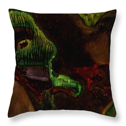 Abstract Throw Pillow featuring the painting Valentine by Murray Bloom