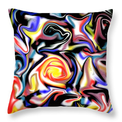 Abstract Throw Pillow featuring the digital art Valette by Blind Ape Art