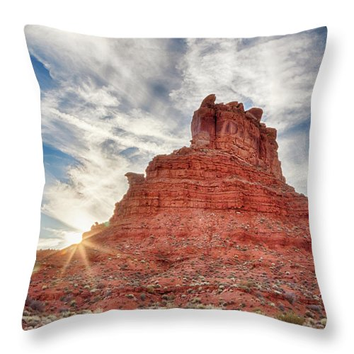 Butte Throw Pillow featuring the photograph Valley Butte by Jayme Spoolstra