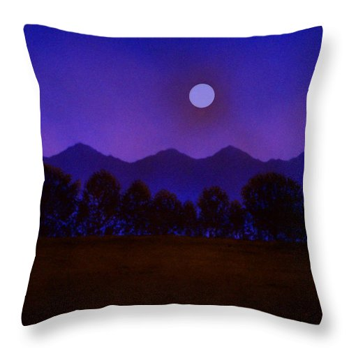 Night Throw Pillow featuring the painting Valley Light by Frank Wilson