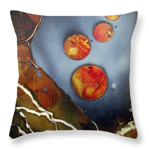Galaxies Throw Pillow featuring the painting Valley Of The Moons by Arlene Wright-Correll