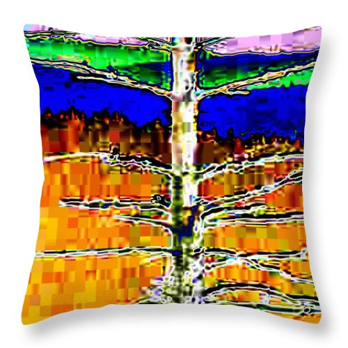 Valley Throw Pillow featuring the photograph Valley View 1 by Tim Allen
