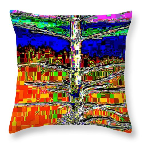 Valley Throw Pillow featuring the photograph Valley View 2 by Tim Allen