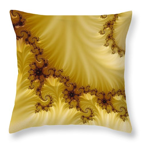 Clay Throw Pillow featuring the digital art Valleys by Clayton Bruster