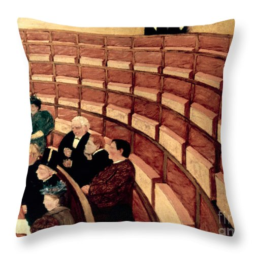 1895 Throw Pillow featuring the photograph Vallotton: Gallery, 1895 by Granger