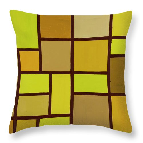 Valuable Earth Throw Pillow featuring the painting Valuable Earth by Adamantini Feng shui