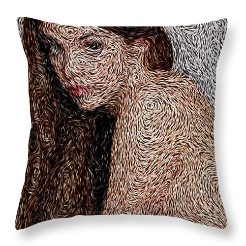 Painting Van Gogh Throw Pillow featuring the photograph Van Gogh Eyes by Mario Carini