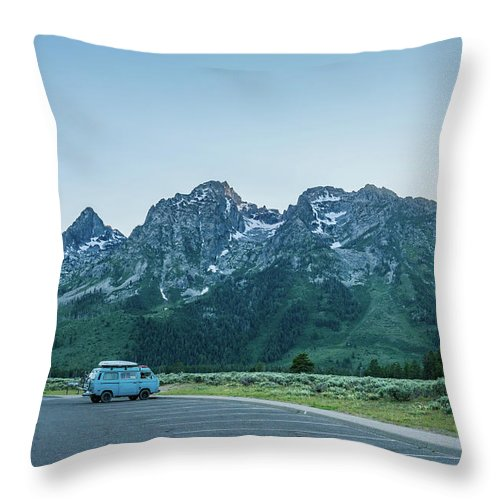 Van Throw Pillow featuring the photograph Van Life by Alpha Wanderlust