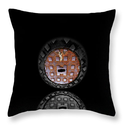 Face Throw Pillow featuring the photograph Vanity by Charles Stuart