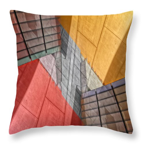 Buildings Throw Pillow featuring the photograph Variation On A Theme by Wayne Sherriff