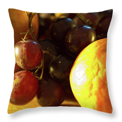 Food Throw Pillow featuring the photograph Various Fruit by Brian Roscorla