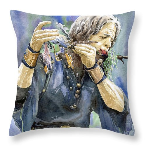 Watercolor Throw Pillow featuring the painting Varius Coloribus by Yuriy Shevchuk