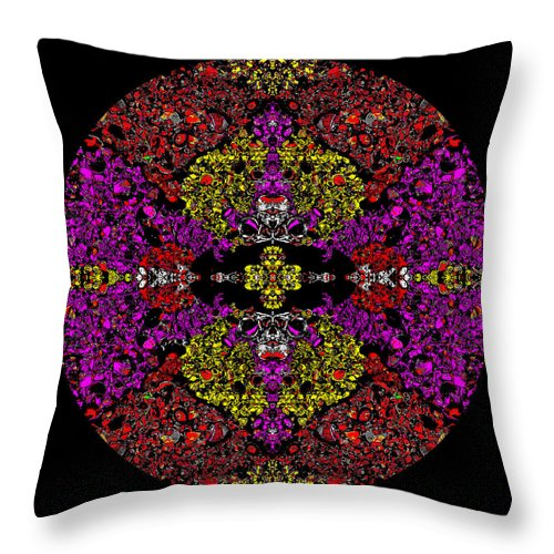 Square Throw Pillow featuring the digital art Vault Of The Holy Dynamo by Eikoni Images