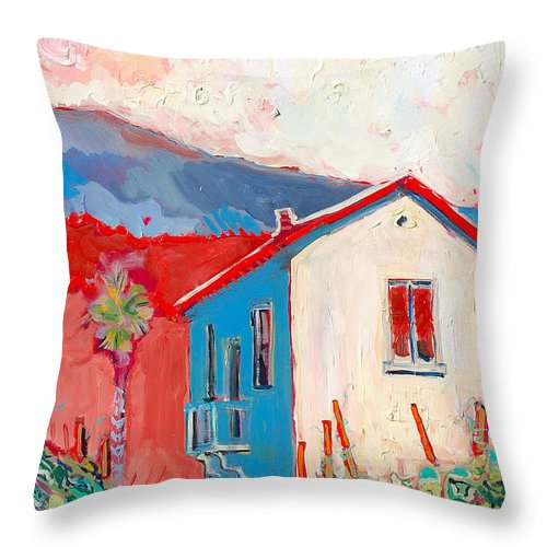 Tuscany Throw Pillow featuring the painting Vecchio Casa by Kurt Hausmann