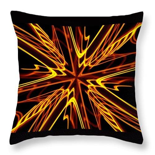 Fractal Throw Pillow featuring the photograph Vectoring The Neon by David Dunham