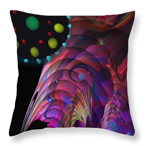 Planets Throw Pillow featuring the painting Vegas Dreams by Kevin Caudill