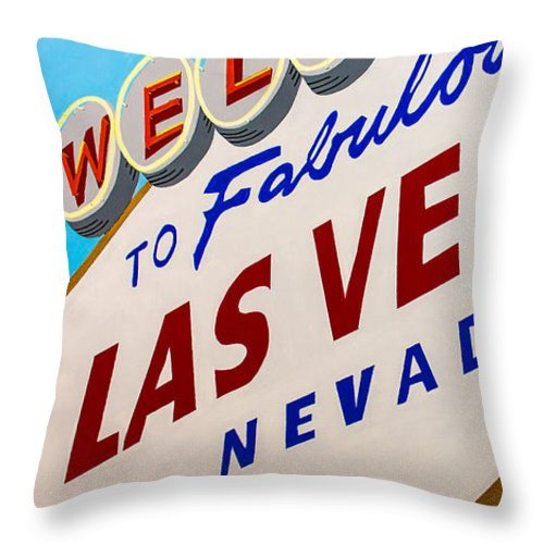 Las Vegas Throw Pillow featuring the painting Vegas Tribute by Slade Roberts