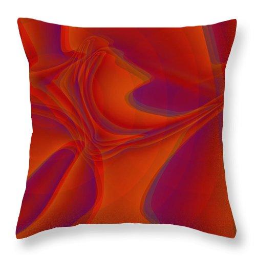 Veil Throw Pillow featuring the digital art Veil Dance by Helmut Rottler
